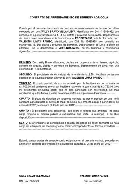incremento de arrendamiento de un local 2016 contrato de arrendamiento de terreno agricola 2011