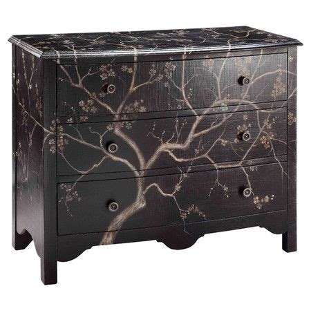 Material Chest Of Drawers by Painted Chest With 3 Drawers And A Cherry Blossom