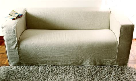 cover your sofa spruce up your ikea klippan sofa cover in a linen
