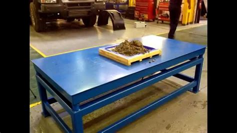 vibrating table 2m x 1m