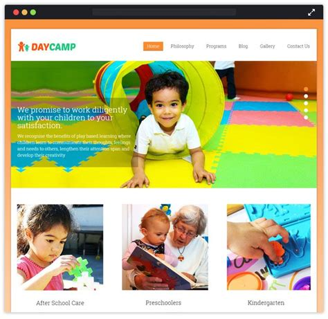 8 Best Child Care Wordpress Themes Inkthemes Playgroup Website Templates
