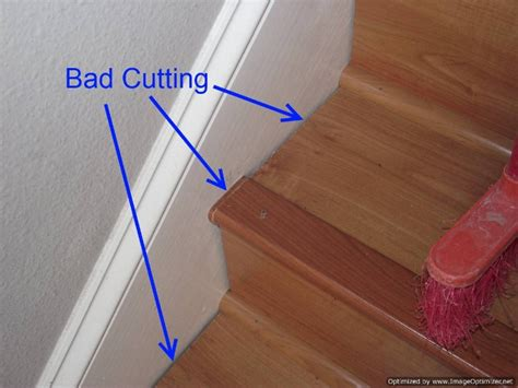 Laminate Floor Installation by Laminate On Stairs With Bad Installation