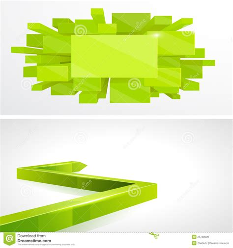 layout design green royalty free stock images set 3d green layout design