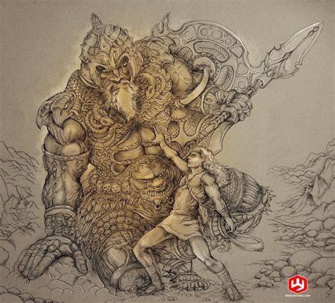 david and goliath tattoo david and goliath by papercutillustration on deviantart