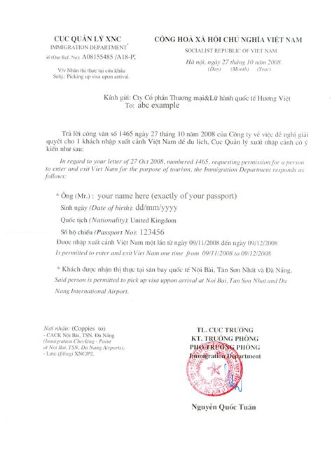 Official Visa Letter Frequently Asked Questions