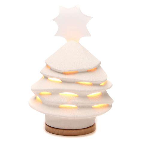 albero di natale illuminato albero di natale ceramica ave 38 cm argilla illuminato