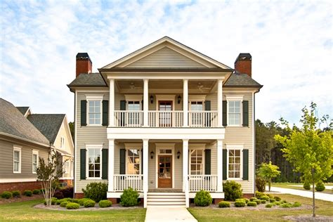 double porch house plans two story house with double porches dream home pinterest