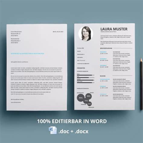 Word Design Vorlagen Kreative Bewerbungsvorlage Lebenslauf Muster