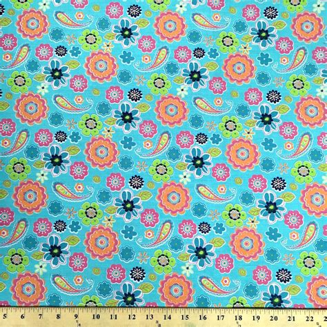 printable cotton fabric lenox turquoise print fabric cotton polyester broadcloth