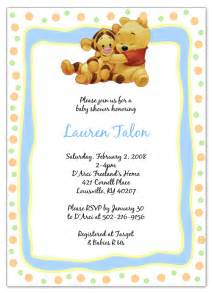 winnie the pooh and tigger baby shower invitations