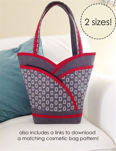 sewing pattern tote bag pockets paper sewing pattern petal pockets purse tote cozy nest