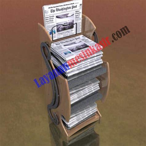 Rak Koran rak koran tabloid majalah pusat mesin kasir