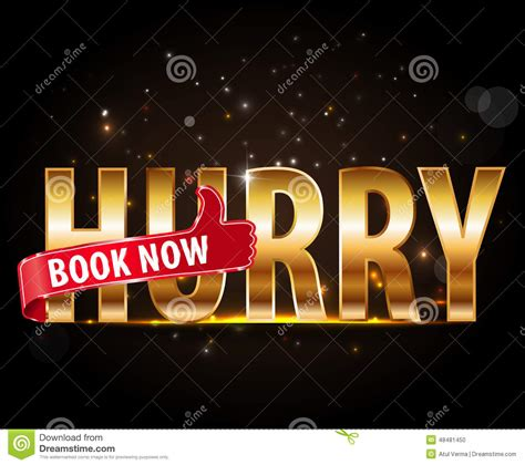 now is the time for dreams books hurry up book now golden text with thumbs up sign