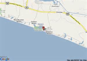 map of seaside cottage rental agency santa rosa
