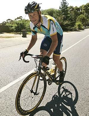 lance armstrong unveils new bike during training for tour