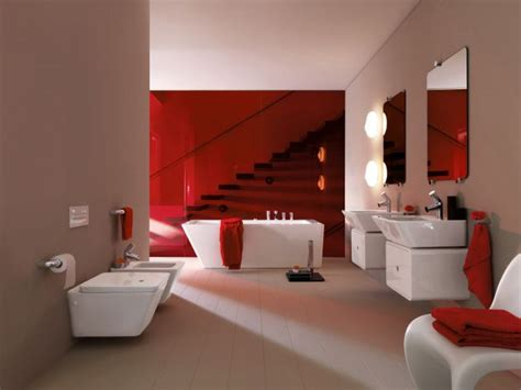 bathroom red and white 39 cool and bold red bathroom design ideas digsdigs