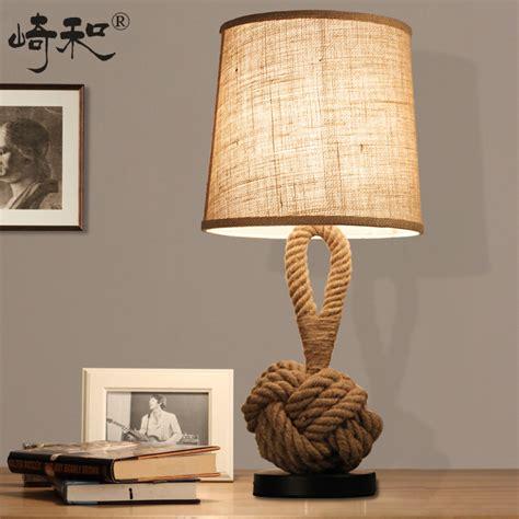 Bedroom Table Ls Lighting Aliexpress Buy Rope Table Ls Led Bedroom Ls Bedside Vintage Industrial Table L