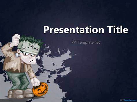 free halloween powerpoint templates download free ppt free halloween frankenstein ppt template