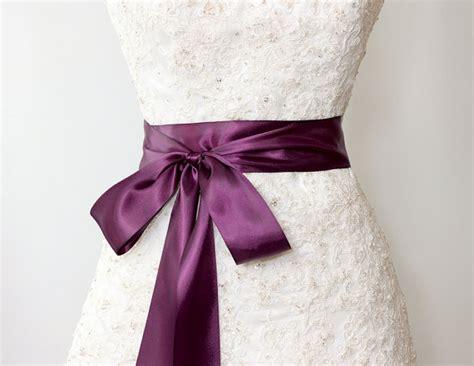bridal sash luxe satin ribbon sash wedding