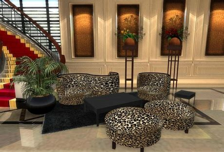leopard room ideas second life marketplace leopard s living room set boxed