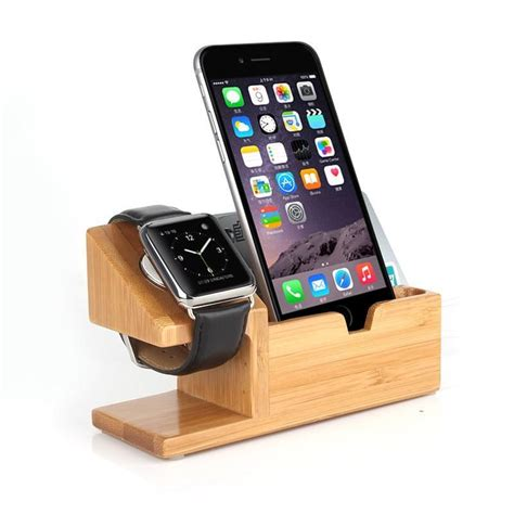 charging station for phones natural wood bamboo desktop mobile cell phone charger