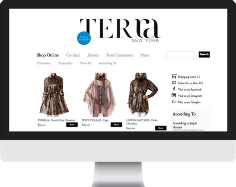 shopify themes new york shopify ecommerce custom theme terra new york