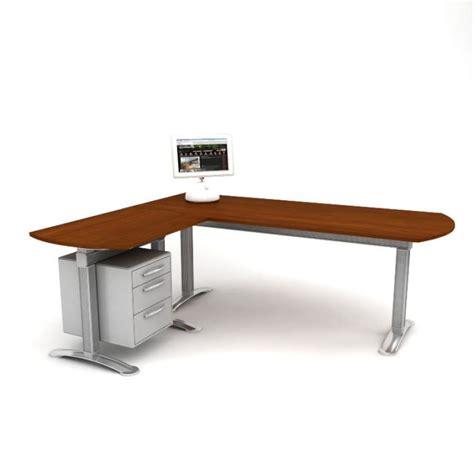 sectional office desk 3d model cgtrader