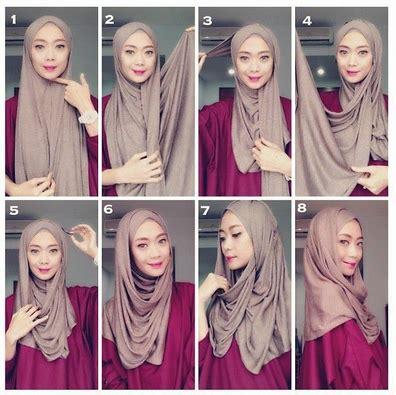 tutorial jilbab terkini contoh cara pakai jilbab variasi terkini 2016