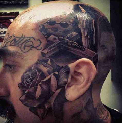 3d tattoo of mouth on head 17 best ideas about rosary bead tattoo on pinterest