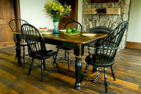 Farmhouse Kitchen Table Sets Black Farmhouse Kitchen Table Quicua