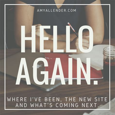 Hello Again by An Introduction To Allender Bible Study And Resources