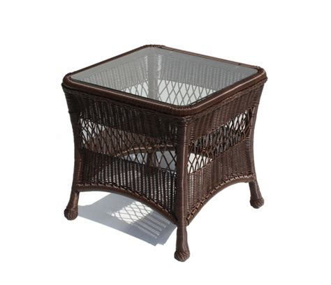 Outdoor Wicker Table by Outdoor Wicker End Table In Brown Wicker Paradise