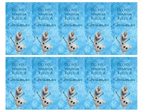 printable frozen favor tags 5 best images of frozen bags printable templates free