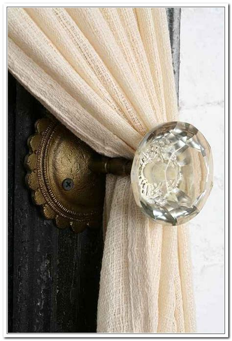Curtain Holdback Knobs by Door Knob Curtain Tie Back Curtain Curtain Image