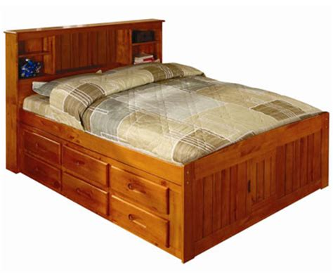 captains bed full size ridgeline full size bookcase captains bed bed frames