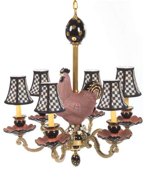 Rooster Chandelier Mackenzie Childs Eclectic Rooster Chandelier