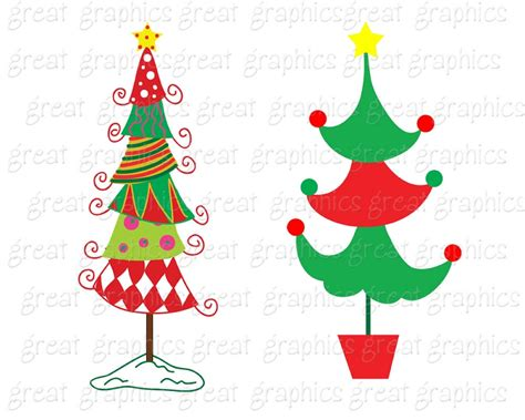 free printable christmas tree clip art whimsical clipart clipart suggest