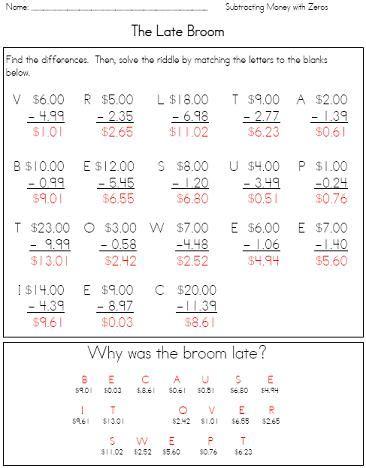 math riddle book puzzle worksheets  teach math