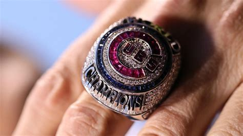 cubs rings cubs address world series ring agreements of fame