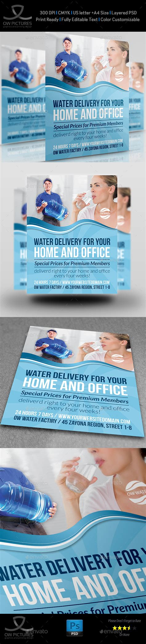 delivery flyer template delivery water service flyer by owpictures graphicriver