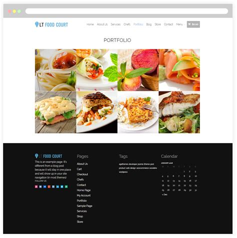 Lt Food Court Free Responsive Food Order Food Court Wordpress Theme Responsive Joomla And Chef Portfolio Template Free
