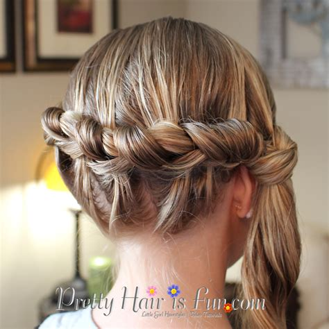 cute girl hairstyles knotted braid girl s hairstyles side knotted braid pretty hair is fun