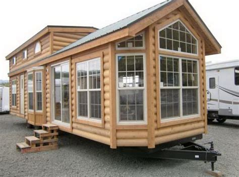 Log Cabin Trailer Homes by Cabin Park Model Living Breckenridge Cpgp Log