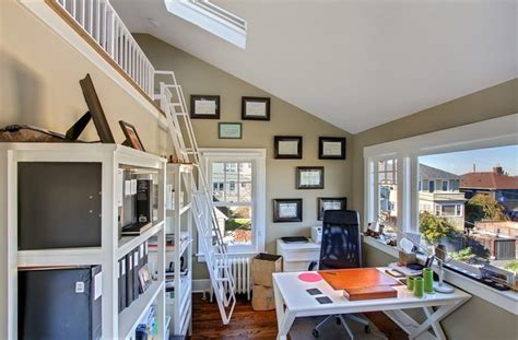 home loft office capitol hill loft eclectic home office seattle by