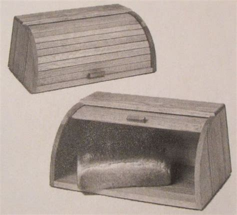 bread box woodworking plans r14 334 rolltop tambour bread box vintage woodworking