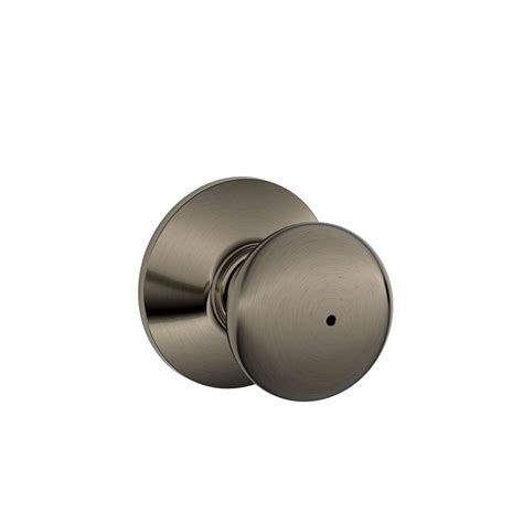Push Knob by Shop Schlage F Plymouth Antique Pewter Push Button