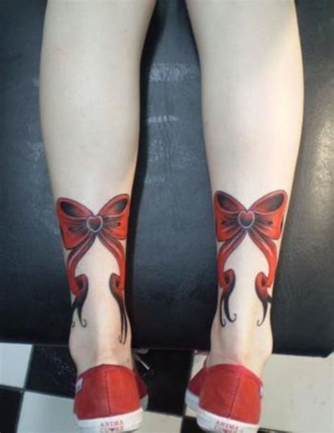 bow tattoos on legs ribbon bow designs for on leg bow tie