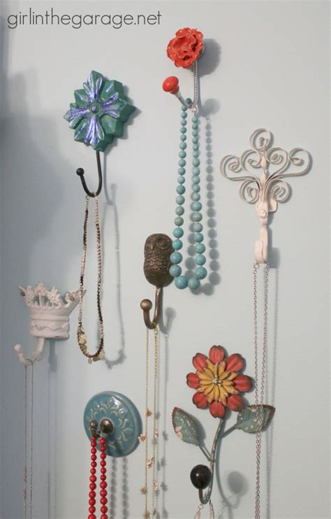 Bedroom Hooks by Decorative Wall Hooks As Jewelry Storage In The Garage 174