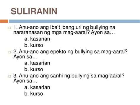 thesis about bullying tagalog bullying in school essay tagalog what goes in abstract