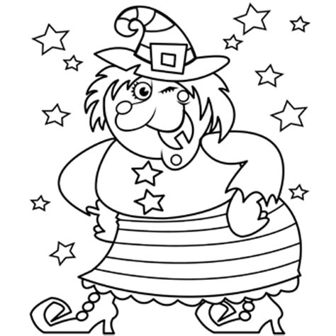 witch coloring pages preschool happy witch free n fun halloween from oriental trading